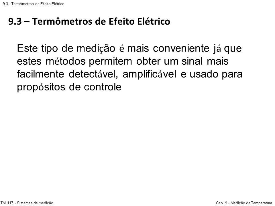 9.3 – Termômetros de Efeito Elétrico