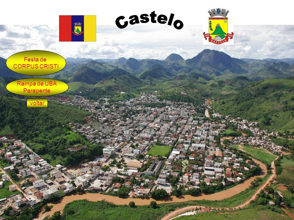 Castelo Festa de CORPUS CRISTI Rampa de UBÁ Parapente voltar