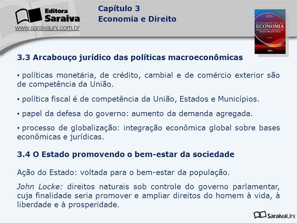 3.3 Arcabouço jurídico das políticas macroeconômicas