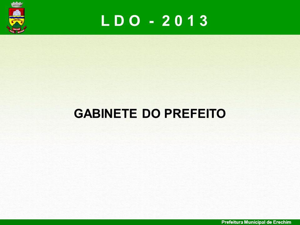 L D O - 2 0 1 3 GABINETE DO PREFEITO Prefeitura Municipal de Erechim
