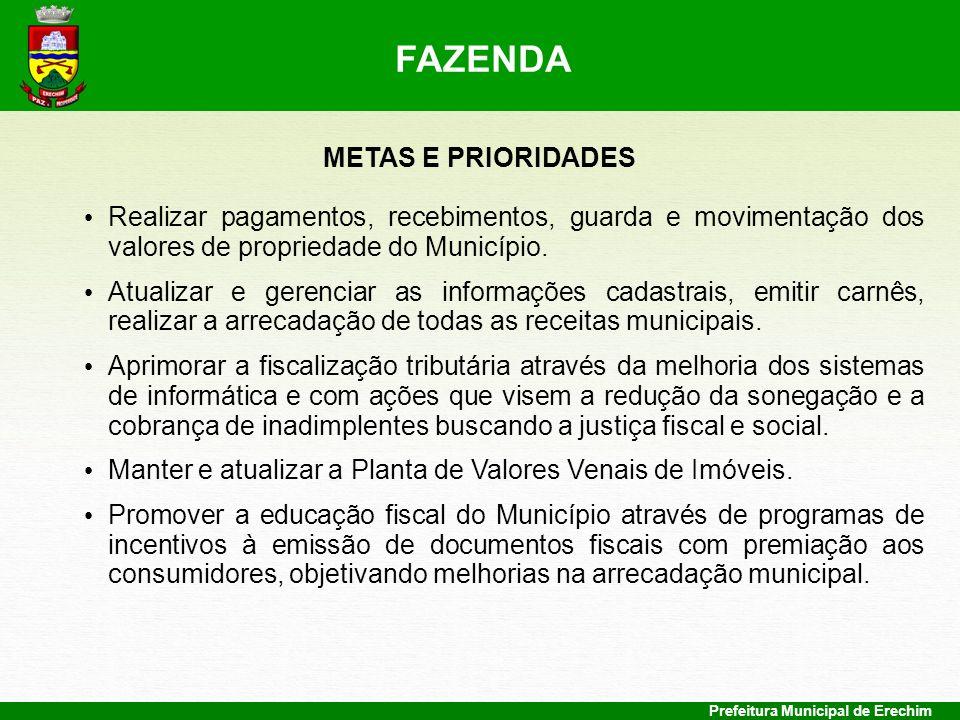 FAZENDA METAS E PRIORIDADES