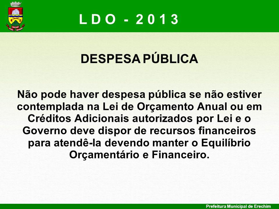L D O - 2 0 1 3 DESPESA PÚBLICA.