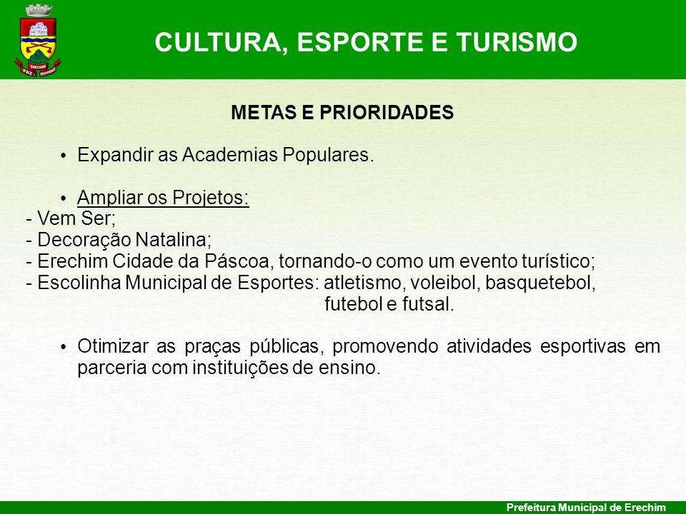 CULTURA, ESPORTE E TURISMO
