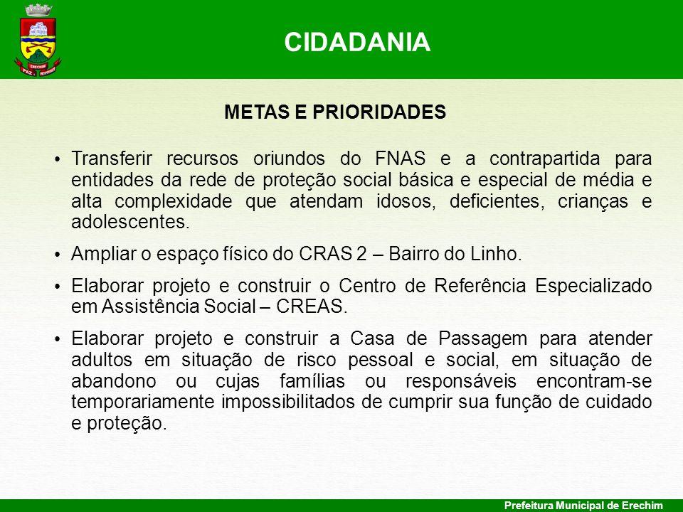 CIDADANIA METAS E PRIORIDADES