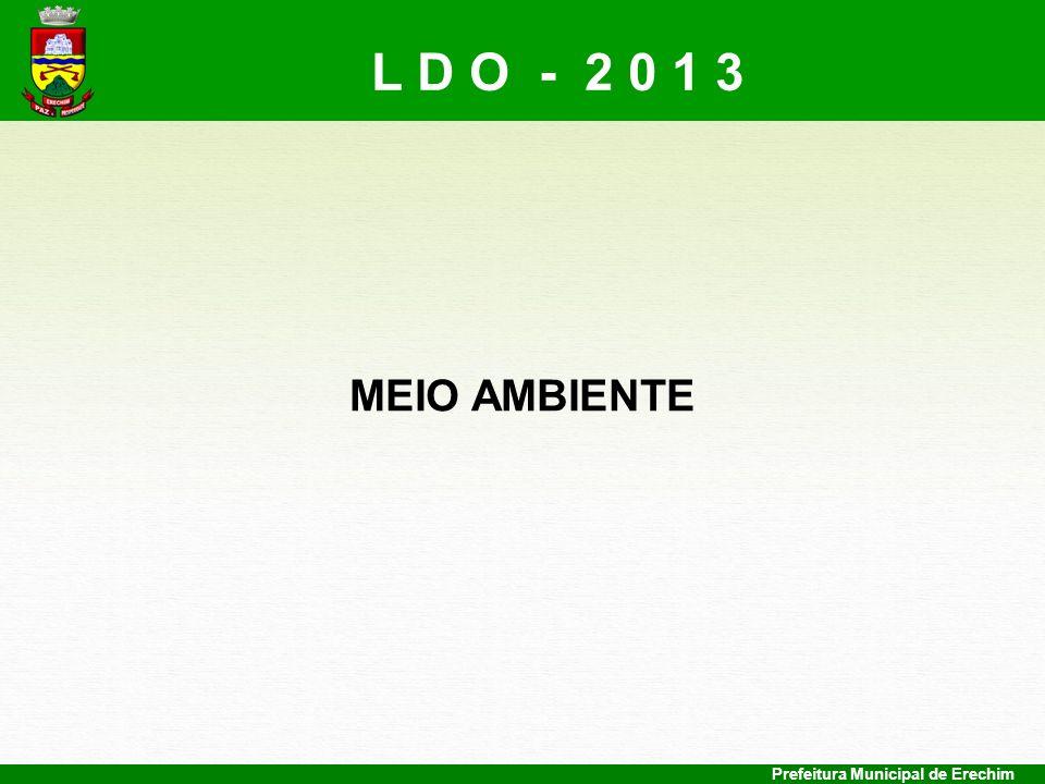 L D O - 2 0 1 3 MEIO AMBIENTE Prefeitura Municipal de Erechim