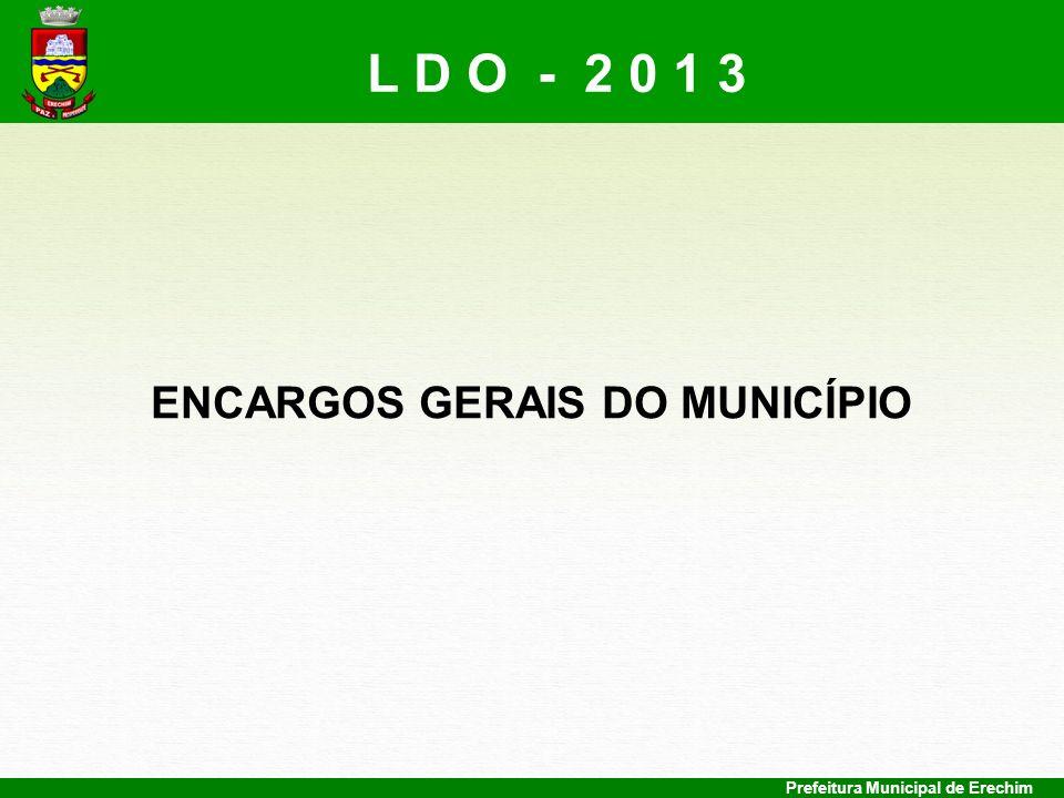 ENCARGOS GERAIS DO MUNICÍPIO