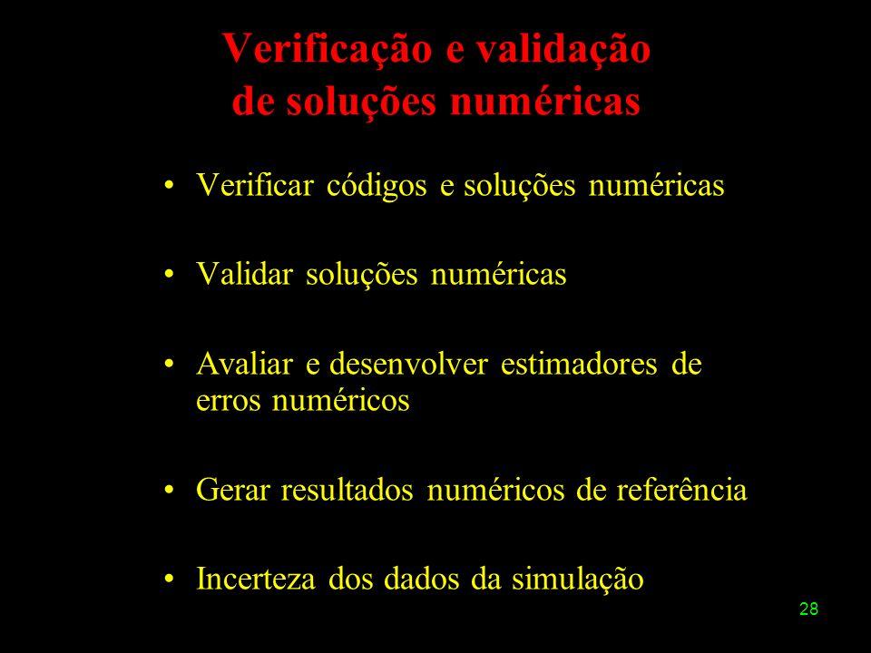 Verificação e validação de soluções numéricas