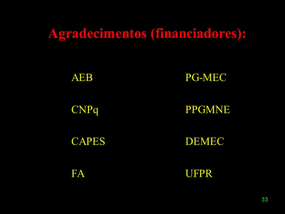 Agradecimentos (financiadores):