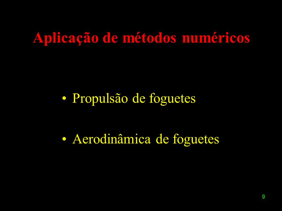 Aplicação de métodos numéricos