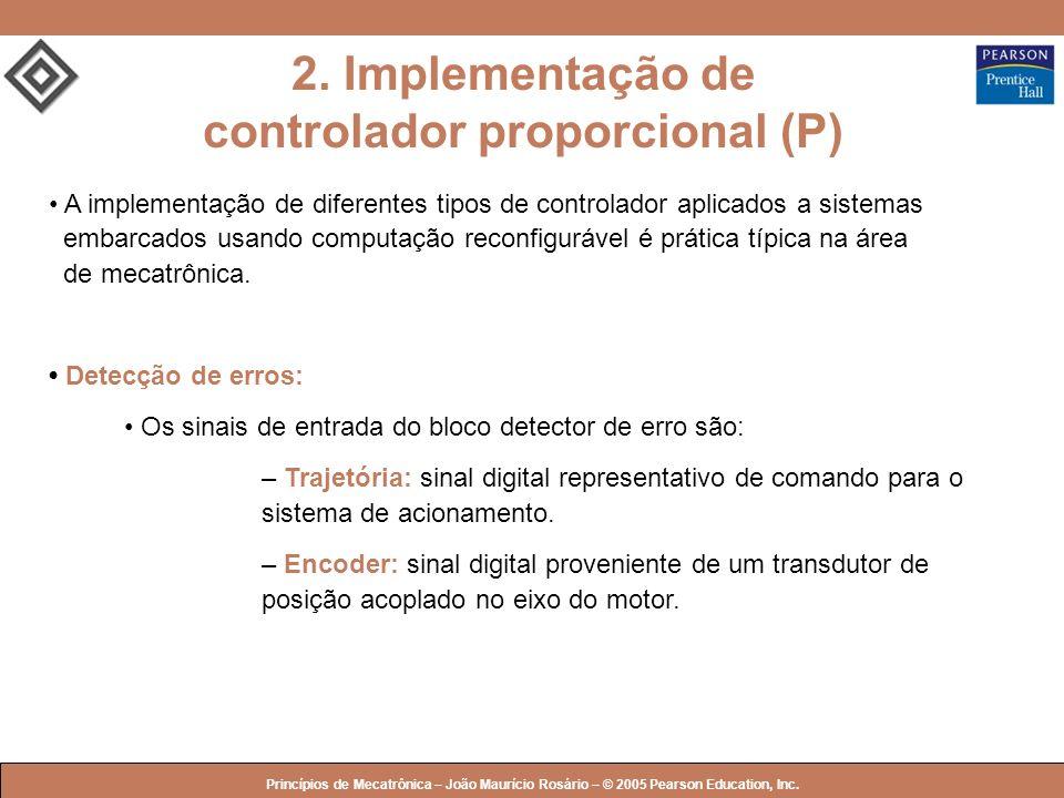 2. Implementação de controlador proporcional (P)