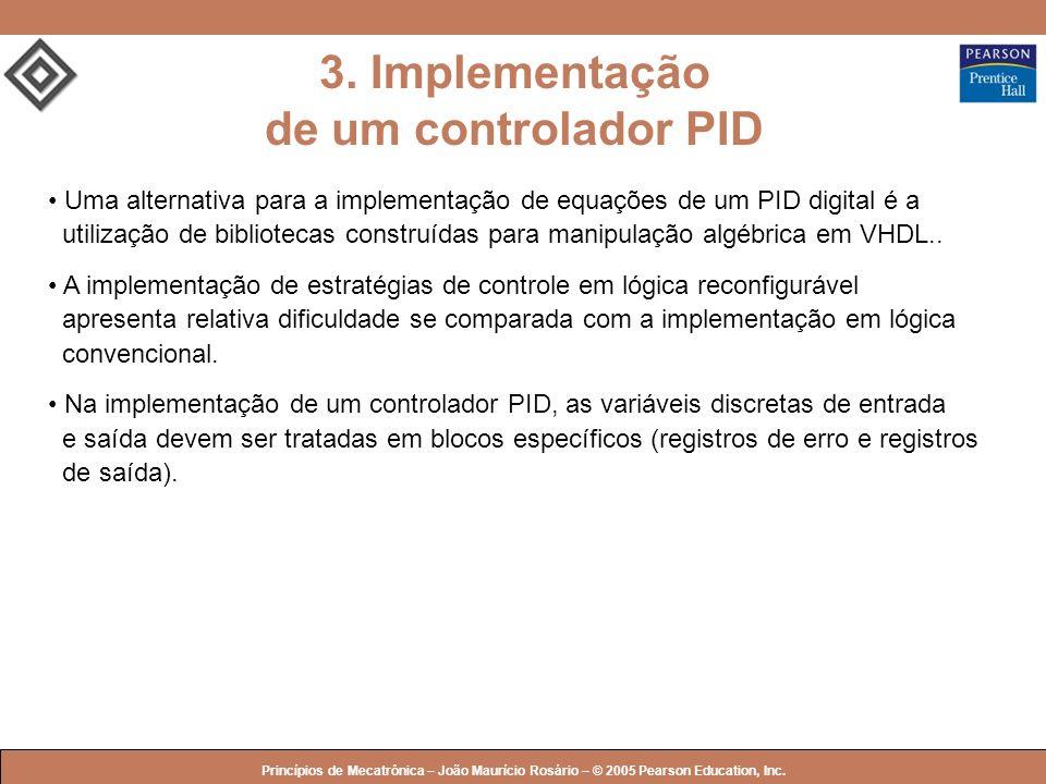 3. Implementação de um controlador PID