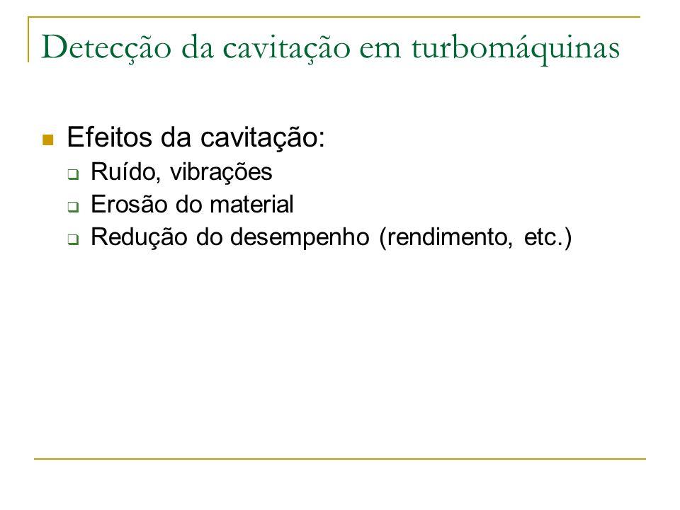 Detecção da cavitação em turbomáquinas