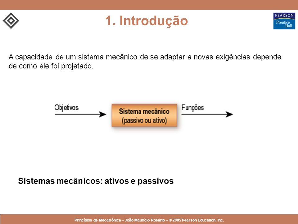 1. Introdução Sistemas mecânicos: ativos e passivos