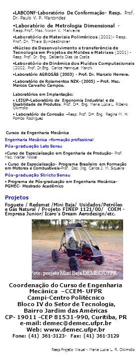 Foto: projeto Mini Baja DEMEC/UFPR