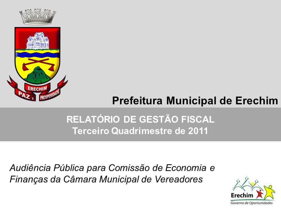 RELATÓRIO DE GESTÃO FISCAL Terceiro Quadrimestre de 2011