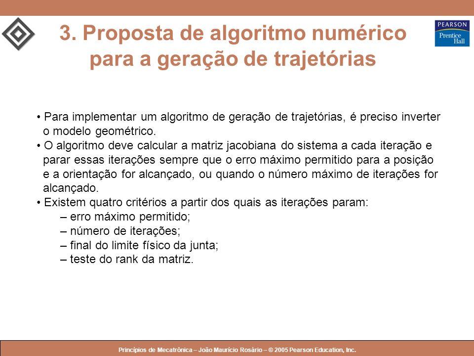 3. Proposta de algoritmo numérico para a geração de trajetórias