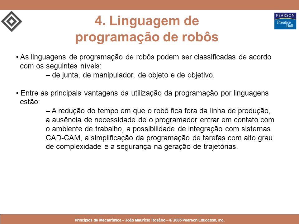 4. Linguagem de programação de robôs