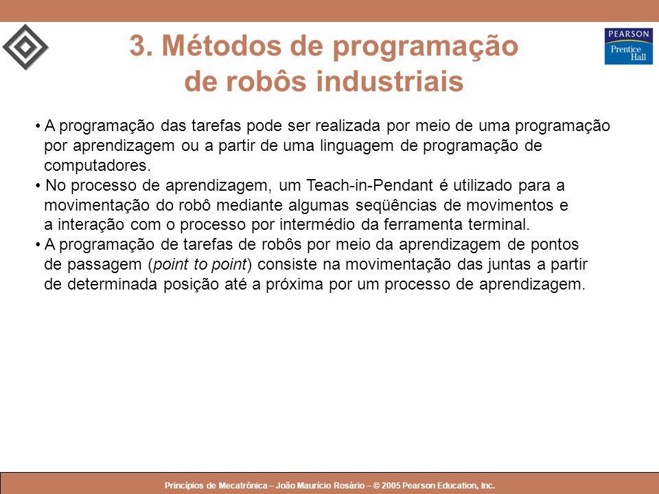 3. Métodos de programação de robôs industriais