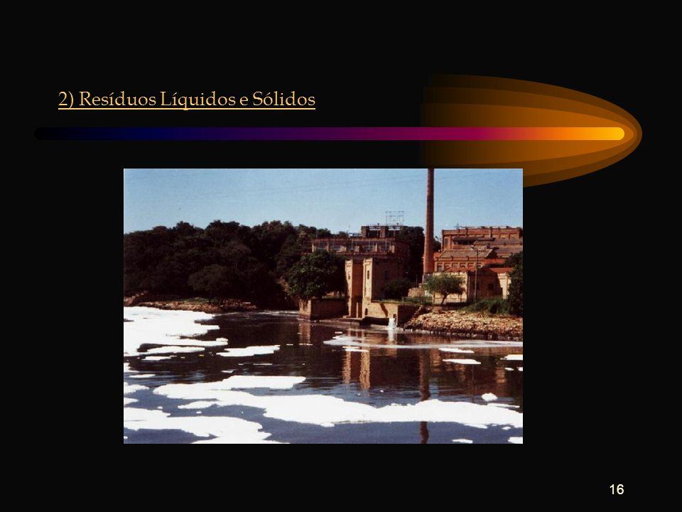 2) Resíduos Líquidos e Sólidos