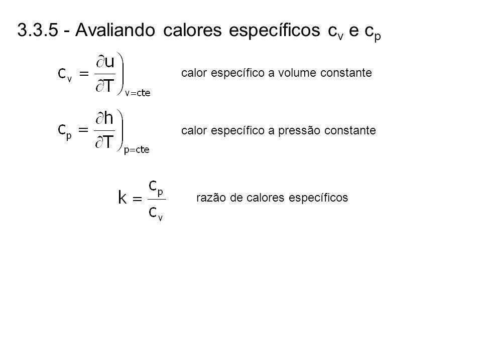 3.3.5 - Avaliando calores específicos cv e cp