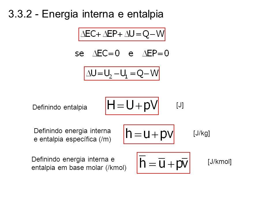 3.3.2 - Energia interna e entalpia