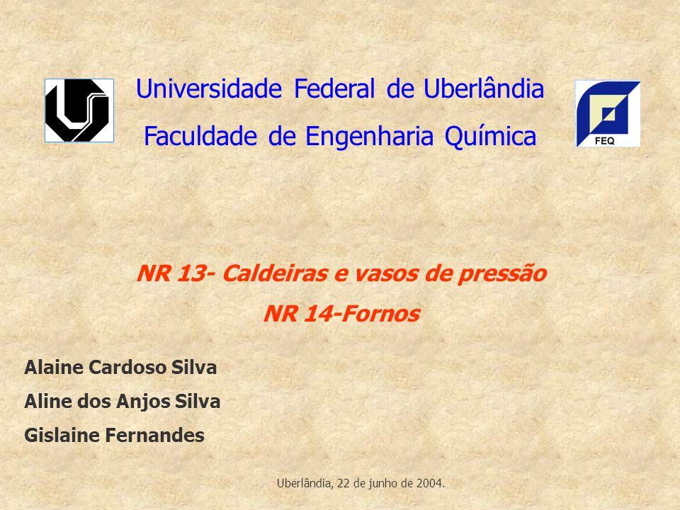 NR 13- Caldeiras e vasos de pressão