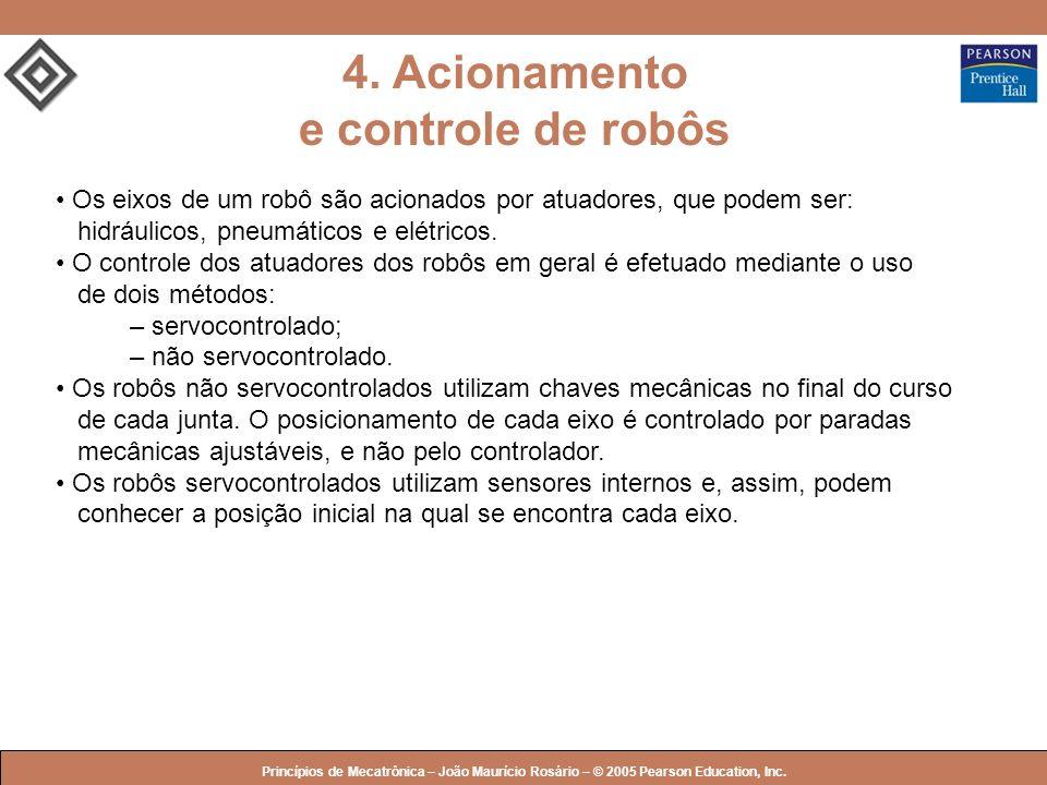 4. Acionamento e controle de robôs