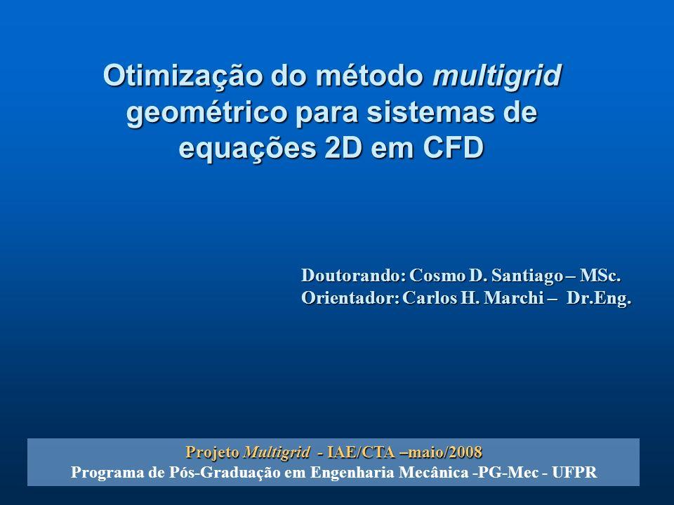Otimização do método multigrid geométrico para sistemas de equações 2D em CFD