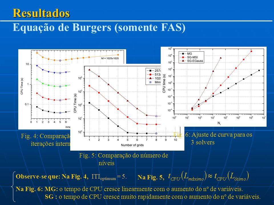 Resultados Equação de Burgers (somente FAS)
