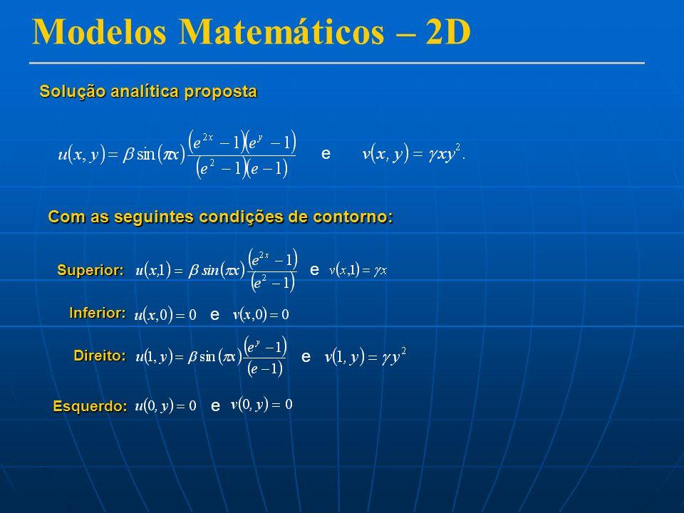 Modelos Matemáticos – 2D