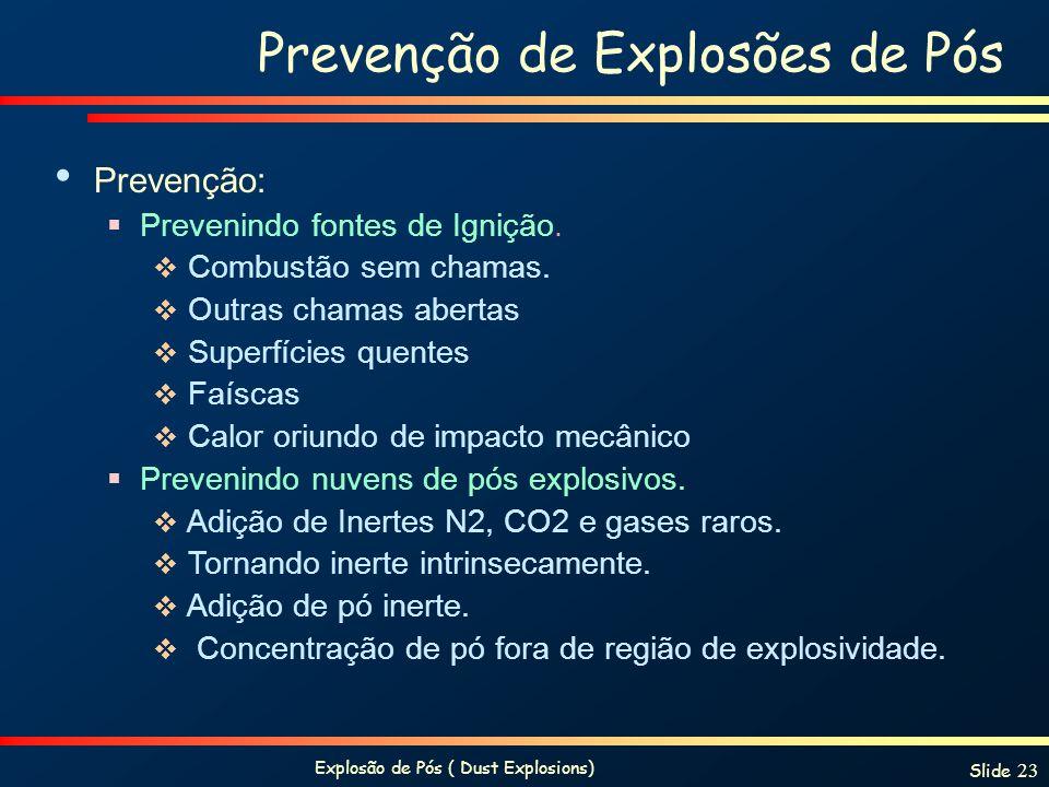 Prevenção de Explosões de Pós