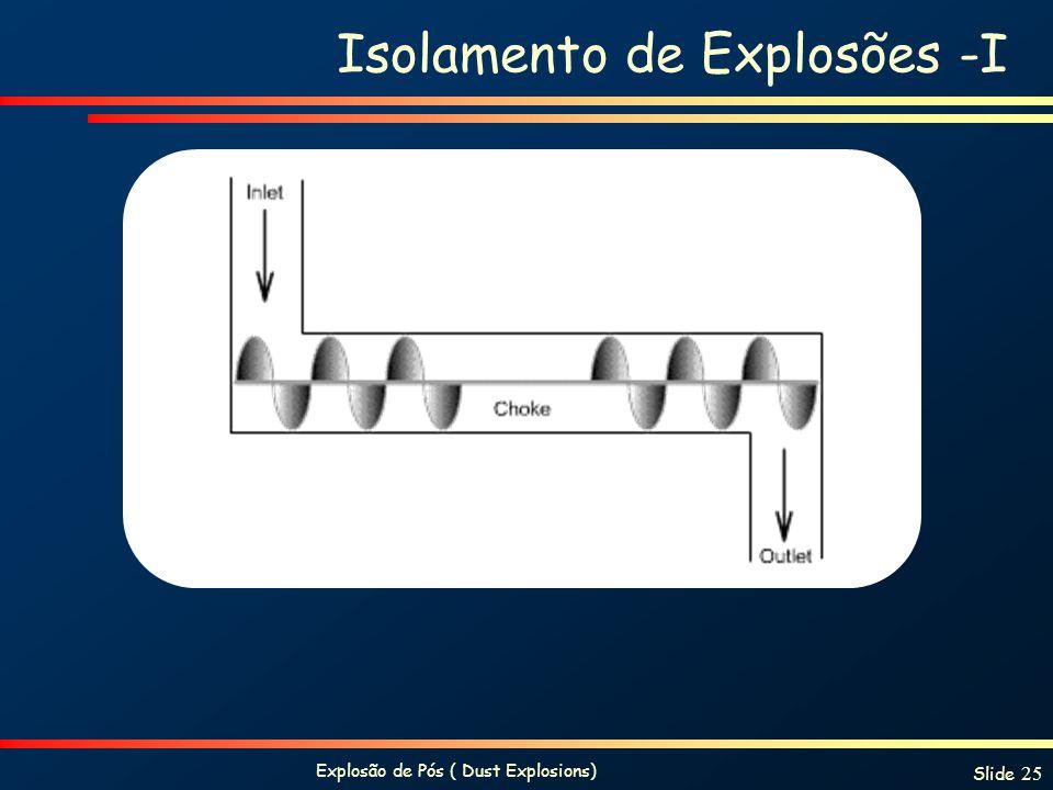 Isolamento de Explosões -I