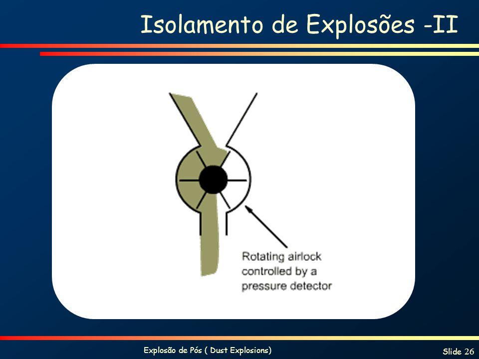 Isolamento de Explosões -II