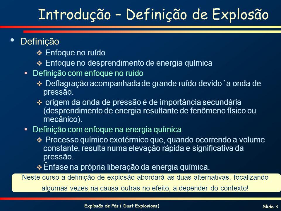 Introdução – Definição de Explosão