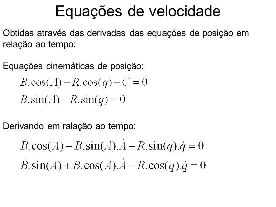Equações de velocidade