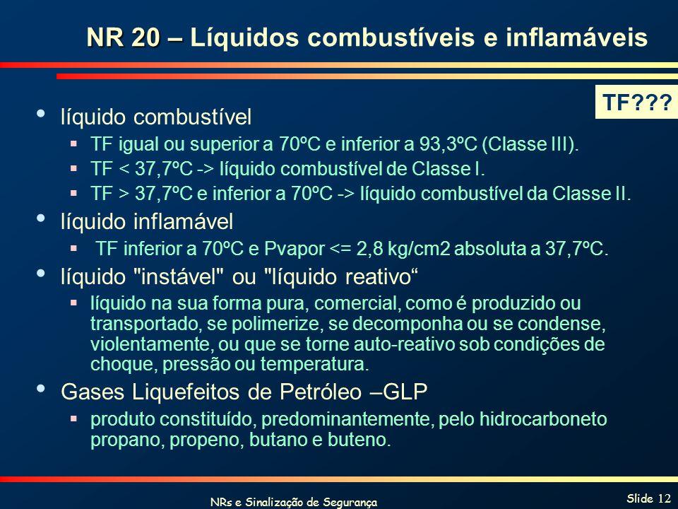 NR 20 – Líquidos combustíveis e inflamáveis