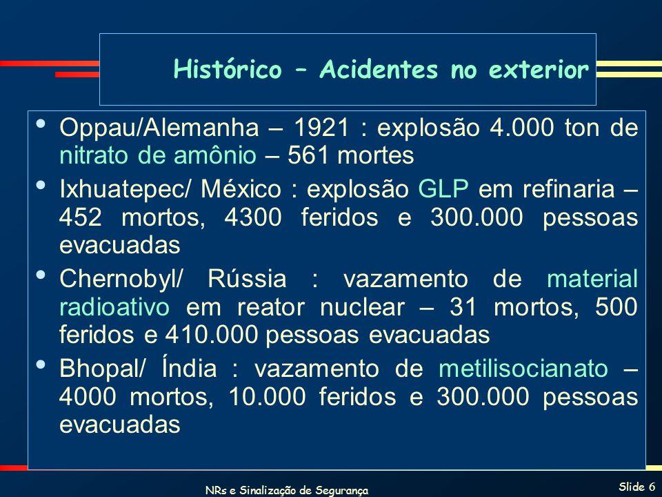 Histórico – Acidentes no exterior