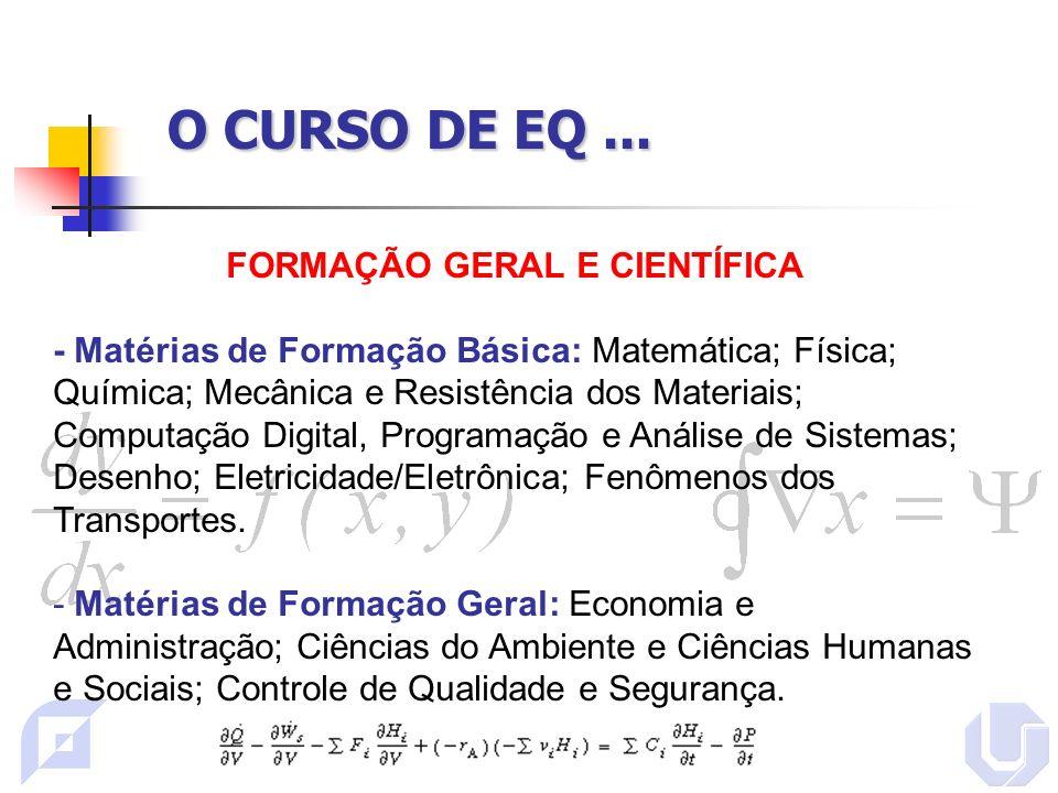FORMAÇÃO GERAL E CIENTÍFICA