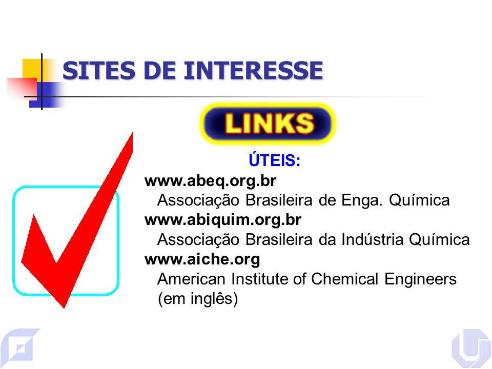 SITES DE INTERESSE ÚTEIS: www.abeq.org.br