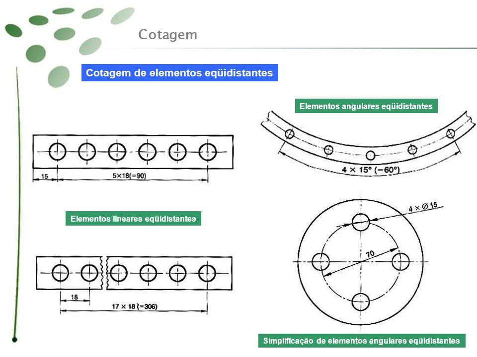 Cotagem Cotagem de elementos eqüidistantes