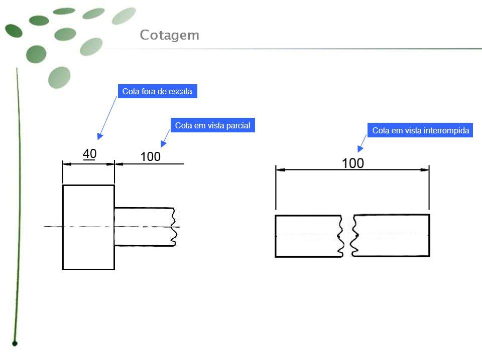 Cotagem Cota fora de escala Cota em vista parcial