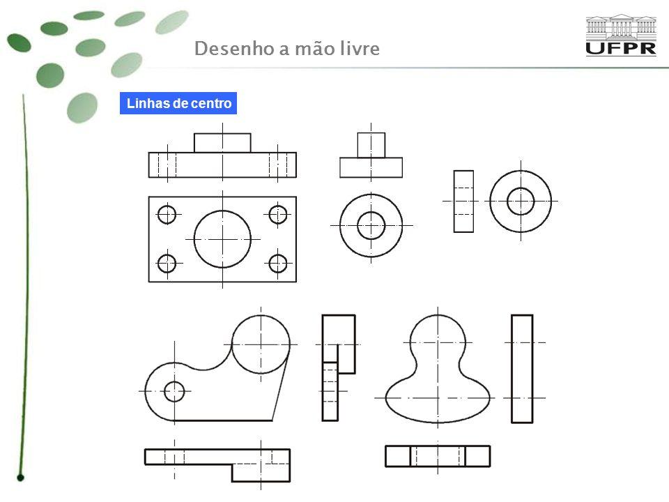 Desenho a mão livre Linhas de centro