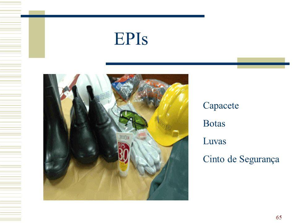 EPIs Capacete Botas Luvas Cinto de Segurança