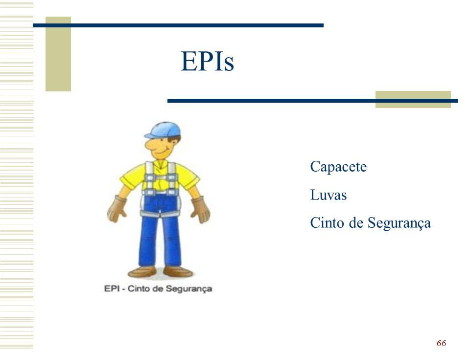 EPIs Capacete Luvas Cinto de Segurança