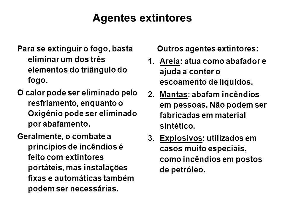 Outros agentes extintores: