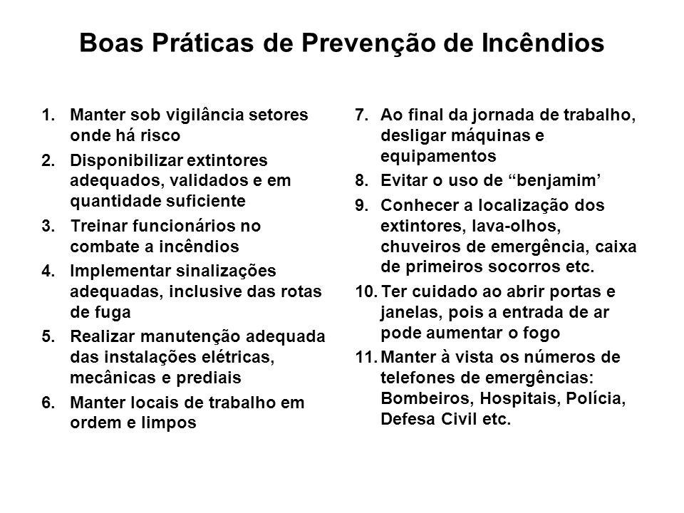 Boas Práticas de Prevenção de Incêndios