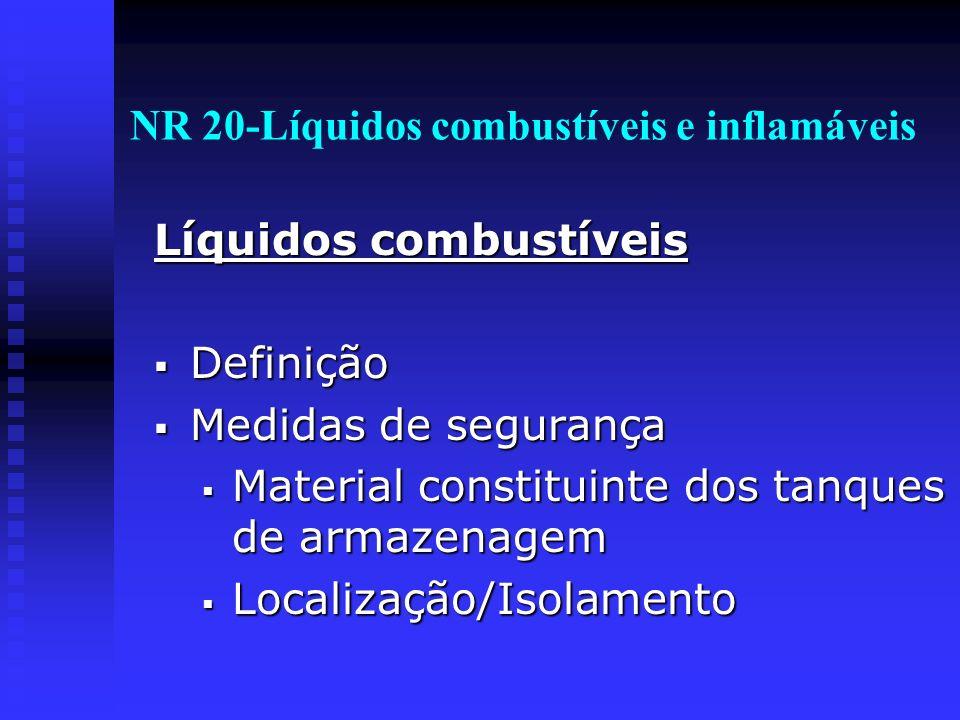 NR 20-Líquidos combustíveis e inflamáveis