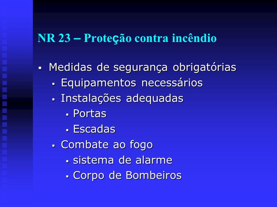 NR 23 – Proteção contra incêndio
