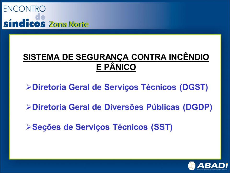 SISTEMA DE SEGURANÇA CONTRA INCÊNDIO E PÂNICO