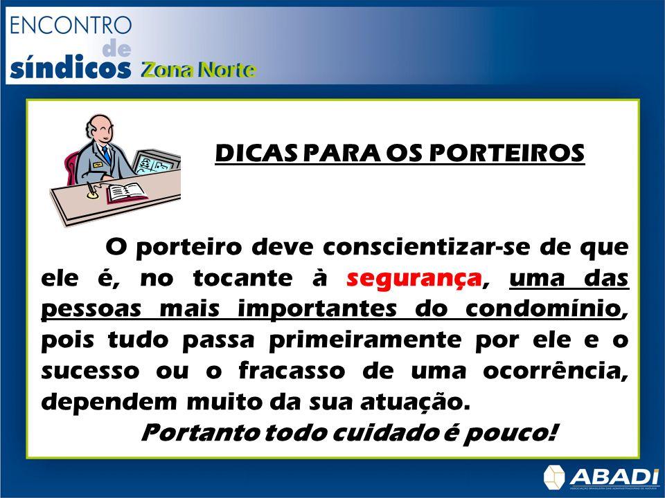 DICAS PARA OS PORTEIROS